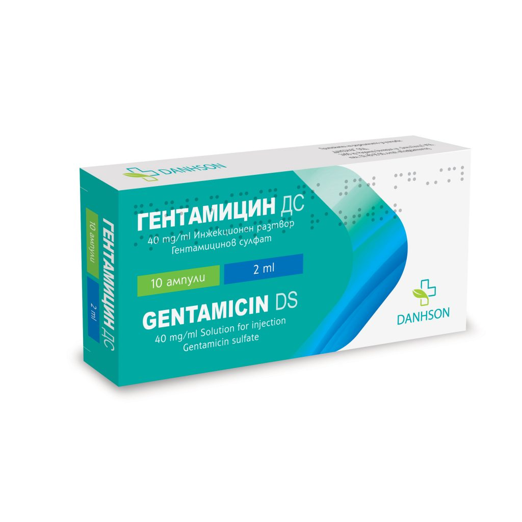 Gentamicin DS 40 mg/ml solution for injection 2 ml